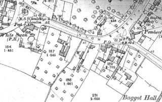 1901 OS map showing original & new buildings on Royston Rd