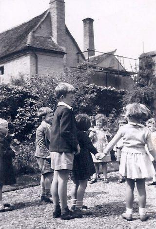 1948: dancing in Beechcroft's front garden   (Janet Bennett)