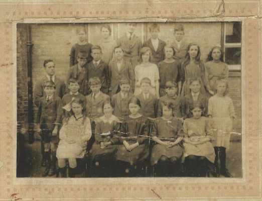 Dorothy & Henry Wilson in c 1920s Harston school photo