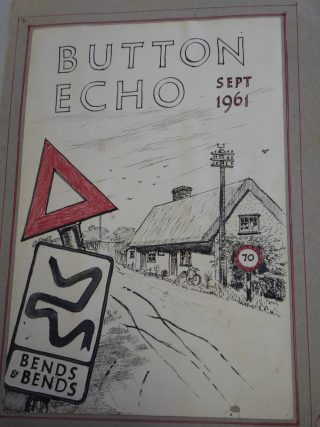 Sketch of the two original cottages in Sep 1961; now Hope Cottage | (Sellen)