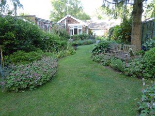 Kenrerl looking east in back garden towards house 2018    (Roadley)