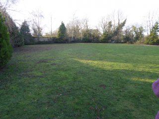 Caravan site looking west, store sheds behind Parkfield 2019    (Roadley)