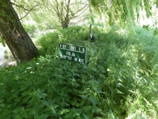 Sign below Haslingfield Road bridge 2020  | (Roadley)
