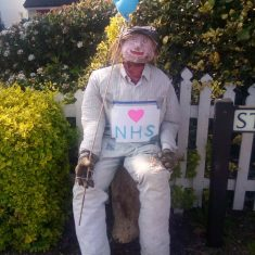 Scarecrow Albert (Bert ) appeared on Station Road at the beginning of lockdown April 2020 | (Marriott)