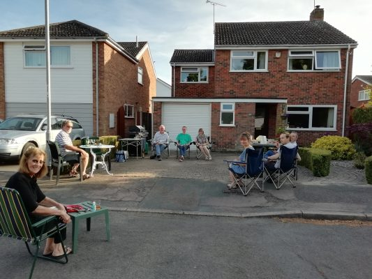 Socially distanced BBQ in Lawrance Lea bank holiday Monday