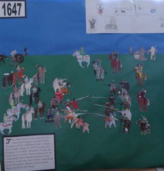 Display by Opal Class of The Civil War for the church hisorical fete 11 June 2016