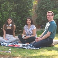 VE day celebration picnic on lawns Lawrance Lea - Lucy, Paru & Alastair Oatey | (Monica)