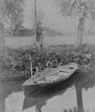 Owen Cambridge with his fishing net | (Sellen)