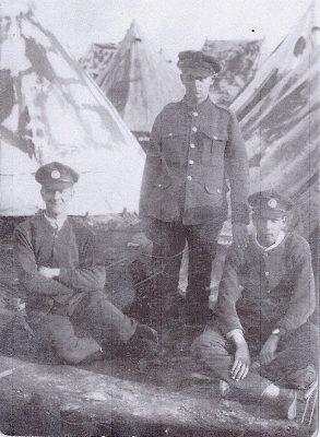 Arthur L (seated) at Crowborough camp