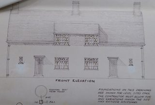 Plan for pair of houses (20-22) Button End for CRDC 1938   (CRO)