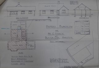 1948 plans for bungalow for C Baker in Button End - Apple Cottage   (CRO)