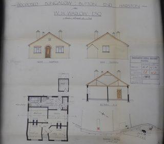 Plan of Hazel Bridge bungalow built for Warlow in Button End 1931   (CRO)