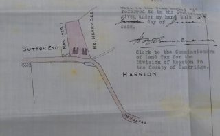 Land tax map 1928 showing new Beech Farm Cottages   (Jesus College)