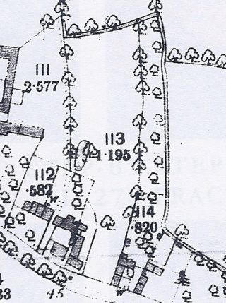 1886 OS map showing site for The Footpath off Church St | (Cambridge collection)