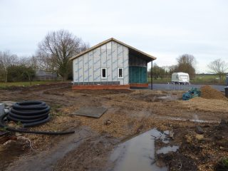 Construction begins on Plymouth Brethren's Hall on previous Apple Cottage site, Button End 2018 | (Roadley)