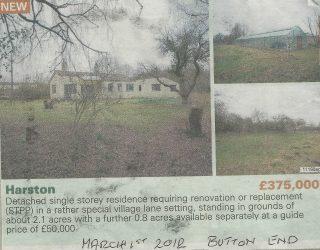 Advert for Apple Cottage, Button End Mar 2012   (Deacon)