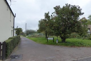 Concrete access road to back gardens of The Footpath Oct 2015 | (Roadley)