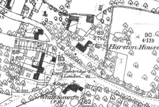 1885 OS map of Hurrell's Row next to old village centre