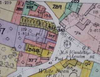 1910 Land Valuation Survey map of Hurrell's Row (CRO)