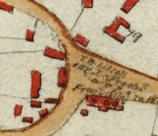 1799 Inclosure map showing the location of Hurrell's Row (CRO)