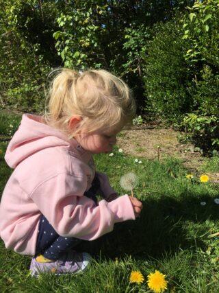 Grandaughter Lucy enjoying garden during lockdown | (J Elmes)