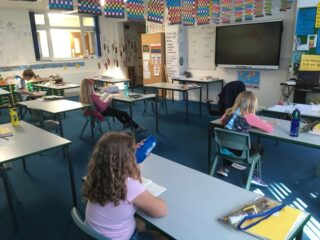 Key worker's children taught in school April 2020 | (S Rouse)