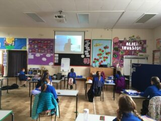 School hall used as extra classroom to space out children June 2020 | (S Rouse)