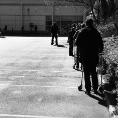 Queuing at supermarket   (Wedgbury)