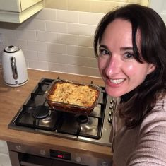 Genevieve cooking a new recipe | (G Wedgbury)