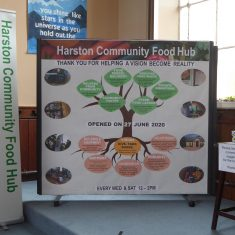 26a. Food Hub display at Baptist Church