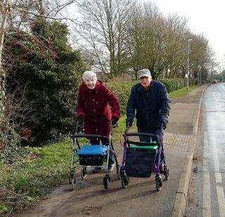 Ted &Beryl Lindley st-rolling along Jan 2021 | (Roadley)