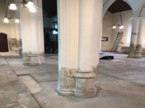 Restoration work on stone pillars early 2021 | (N Richardson)