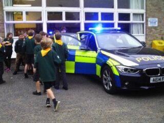Cubs police visit