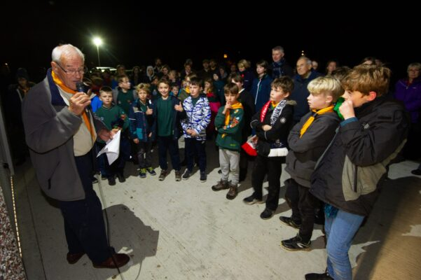 At opening of Scout hut 2018